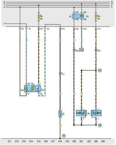 фольксваген транспортер т5 схема электропроводки